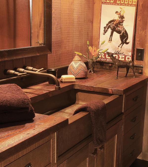 Этническая мебель для ванной комнаты - 4
