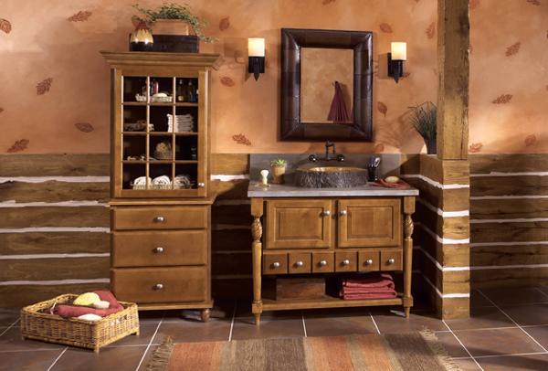 Кантри мебель для ванной комнаты - 5
