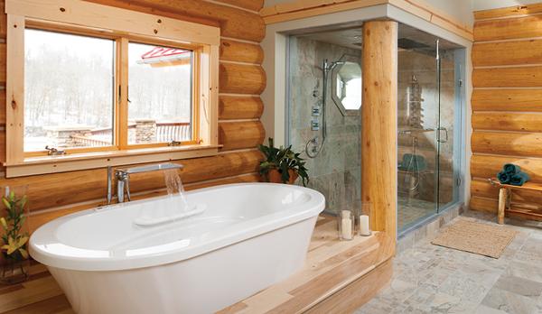 Мебель для ванной комнаты в стиле кантри - 1