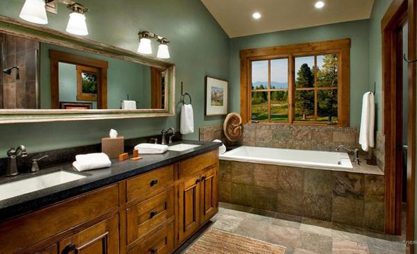 Мебельдля ванной комнаты в стиле кантри - 4