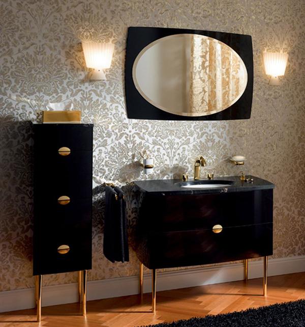 Классическая мебель в ванной комнате - 4