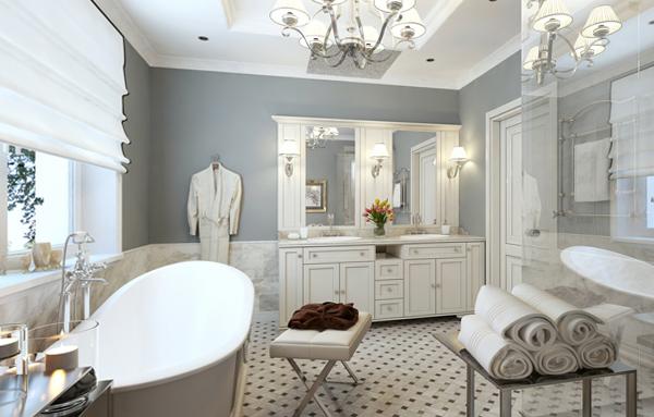 Мебель для ванной в стиле классика - 1