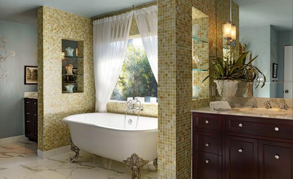 Мебель для ванной в стиле классика - 4