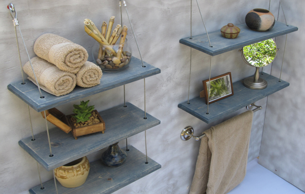 Подвесные шкафчики и навесные полки для ванной - 5