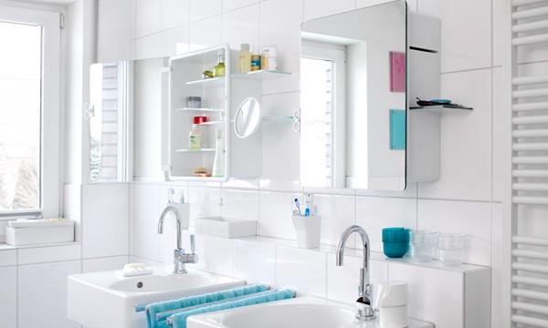 Мебель Икеа для ванной (шкафчик с зеркалом) – 2