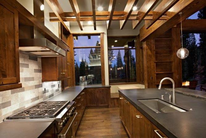 Натяжные потолки на кухне 2