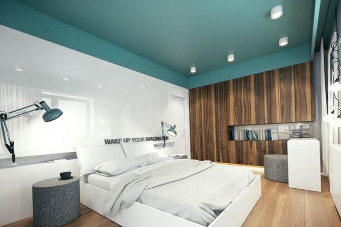 Дизайн потолков натяжных в спальне фото
