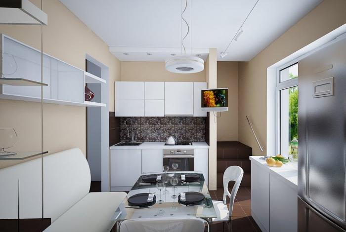 Обеденный стол в кухне: фото 1