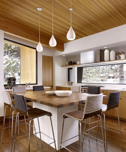 Обеденный стол в кухне: фото 2