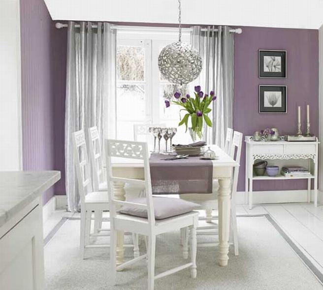 Обеденный стол в гостинной 4