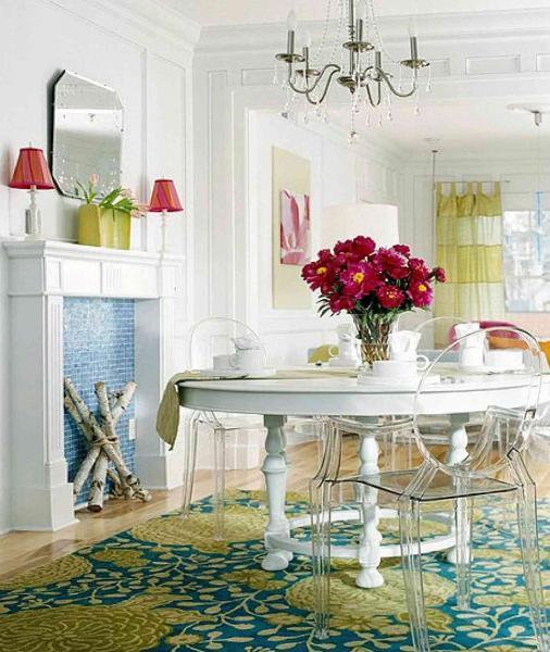 Обеденный стол в гостинной 5