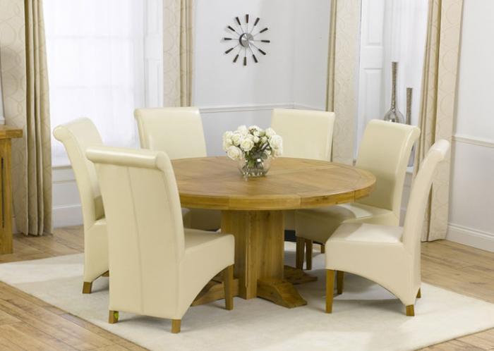 Круглая форма обеденного стола - 1