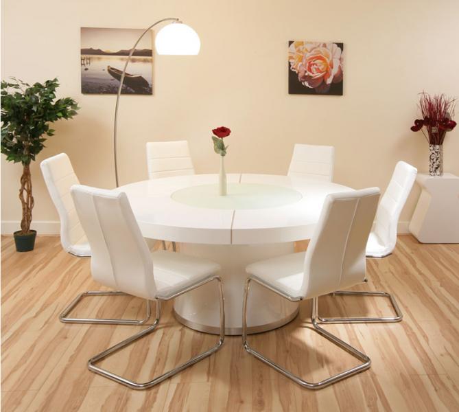Круглая форма обеденного стола - 2