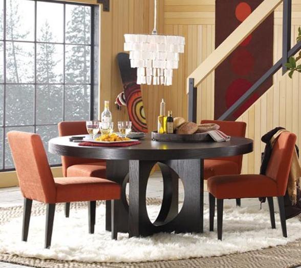 Круглая форма обеденного стола - 3