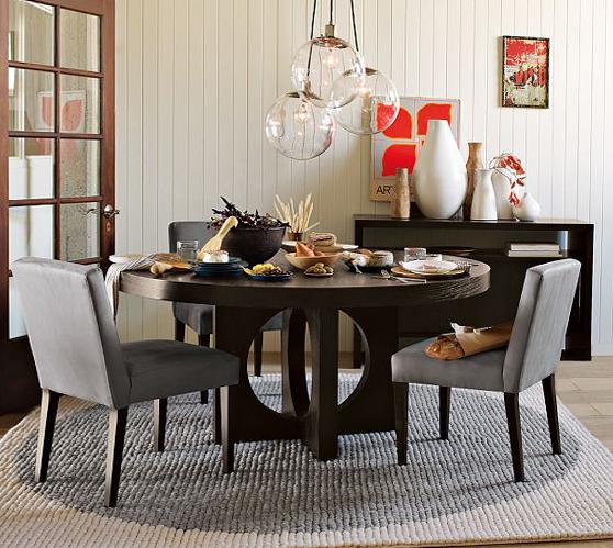 Круглая форма обеденного стола - 5