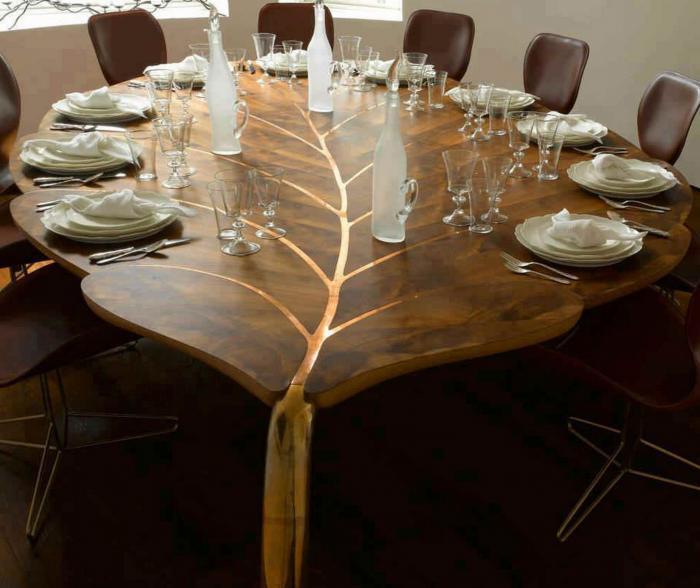 Оригинальная форма обеденного стола - 3