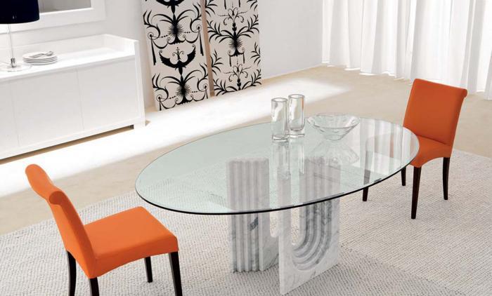 Овальнаяформа обеденного стола - 4