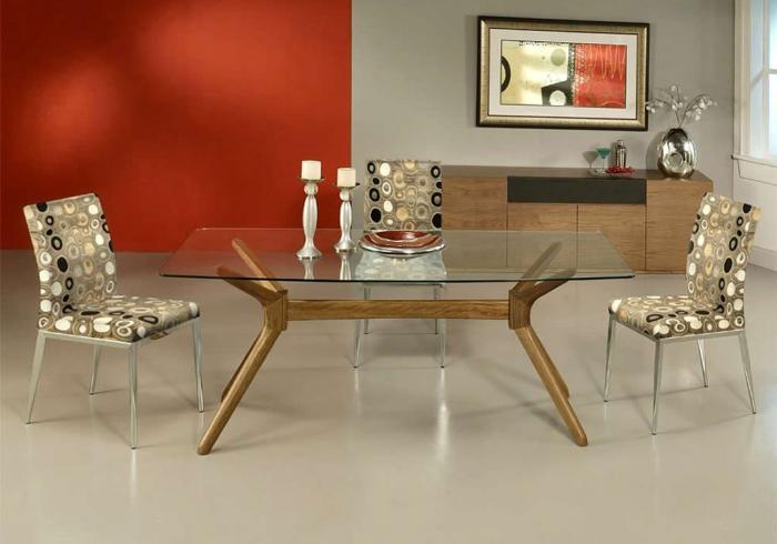 Прямоугольная форма обеденного стола - 1