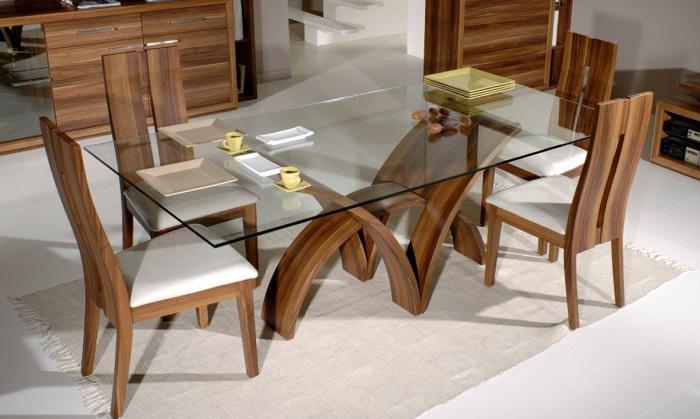 Прямоугольная форма обеденного стола - 3