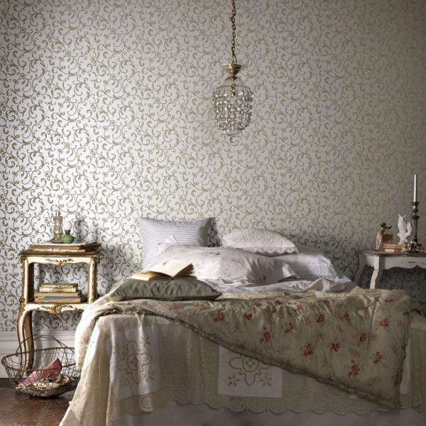 Фото обоев в спальной комнате
