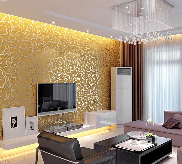 Дизайн обои для зала