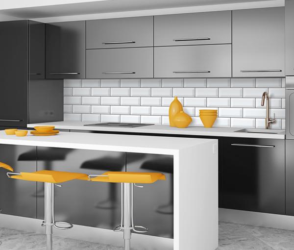 Плитка в интерьере кухни – 1