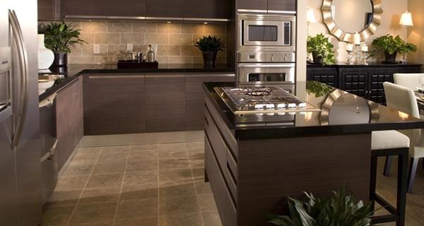 Плитка в интерьере кухни - 2