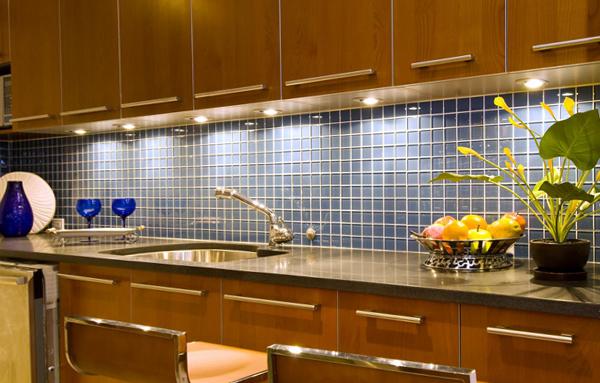 Плитка в интерьере кухни (фартук) - 3