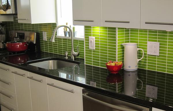 Плитка в интерьере кухни (фартук) - 4