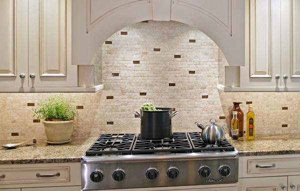 Плитка в интерьере кухни (кирпичная укладка) - 2