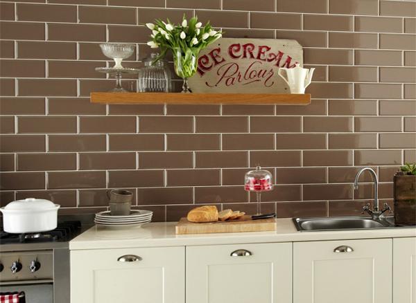 Плитка в интерьере кухни (кирпичная укладка) - 3