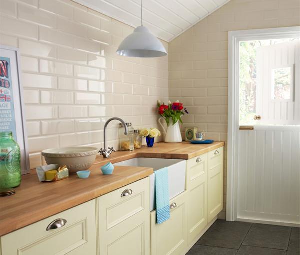 Плитка в интерьере кухни (кирпичная укладка) - 4
