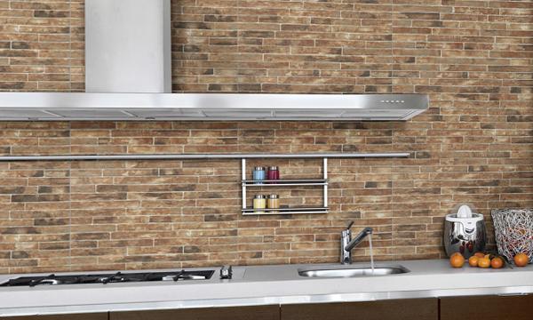 Плитка в интерьере кухни (кирпичная укладка) - 5