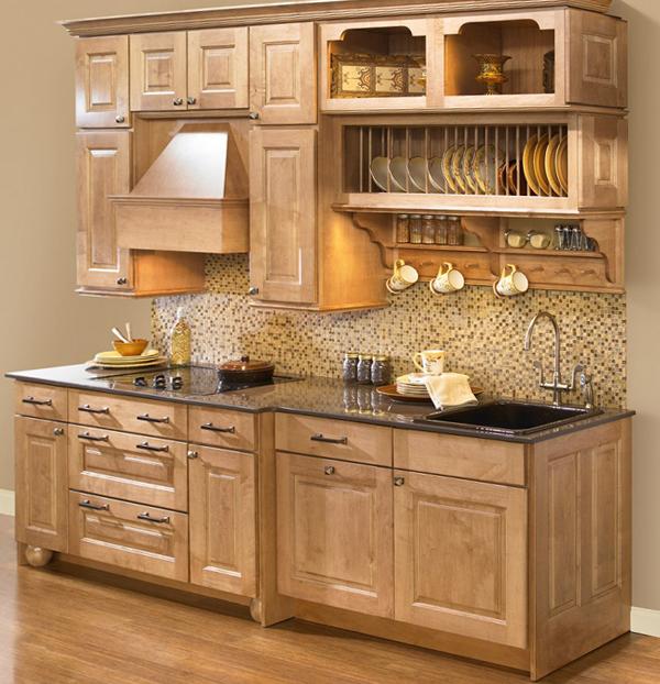Плитка в интерьере кухни (мозаичная укладка) - 2