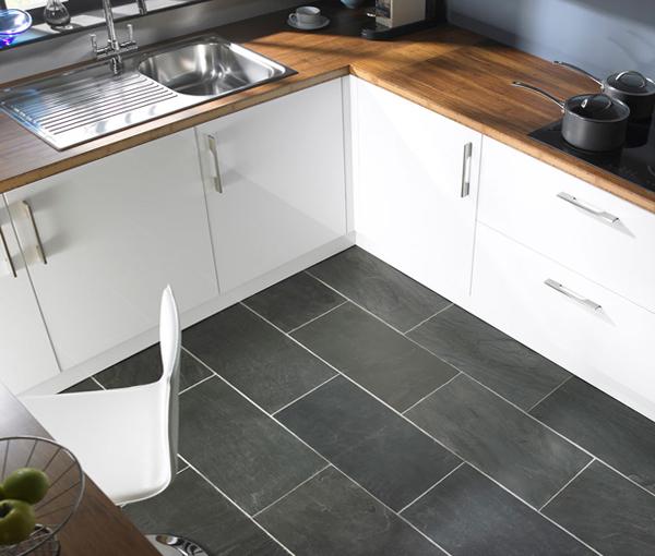 Плитка в интерьере кухни (напольная) - 2