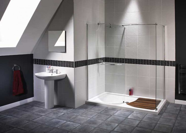 Декорирование стенв ванной комнате плиткой - 1