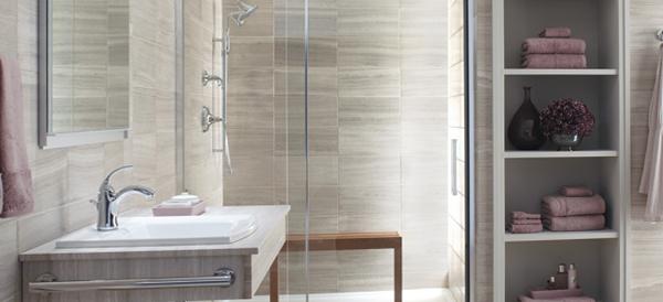 Декорирование стенв ванной комнате плиткой - 2