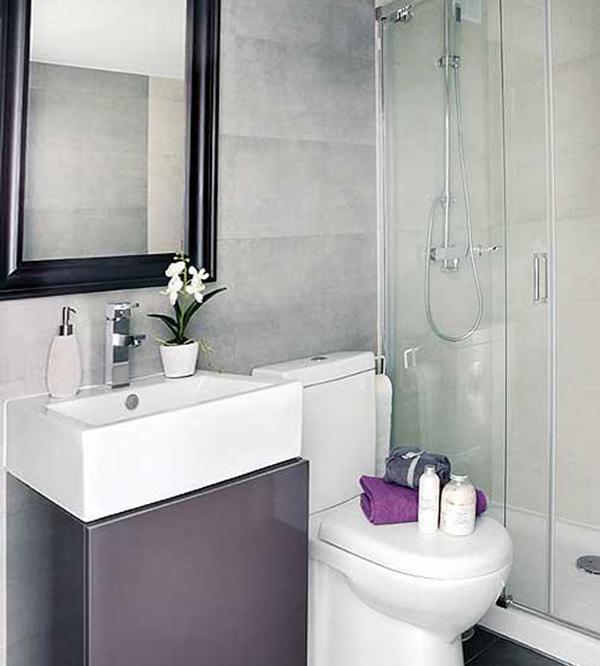 Декорирование стенв ванной комнате плиткой - 3