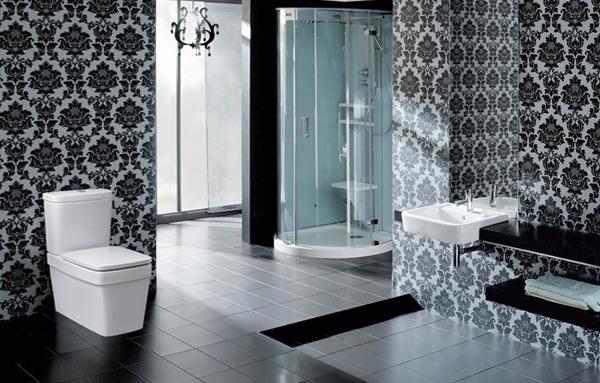 Декорирование стенв ванной комнате плиткой - 4