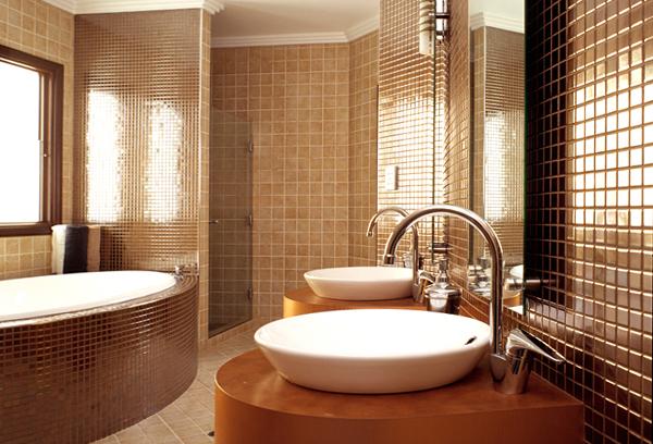 Стены в ванной (плитка) -1