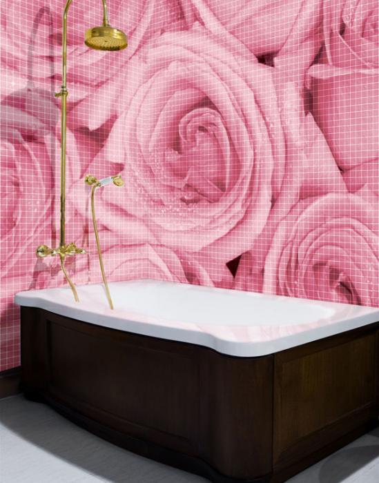 Стены в ванной (плитка) -2