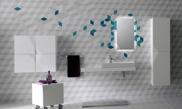 Tile wall decoration with your own hands - 2