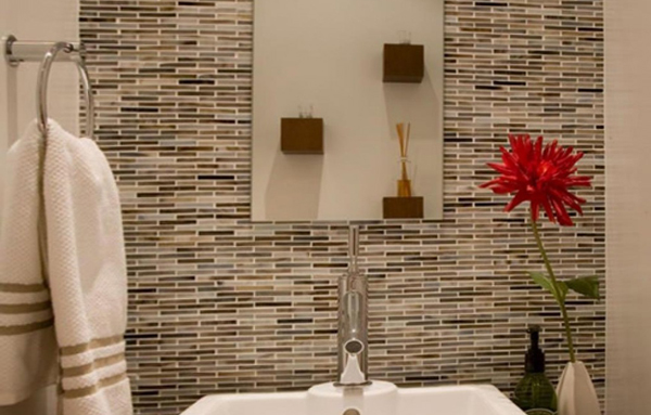 Tile wall decoration with your own hands - 3