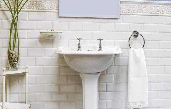 Плитка белого цвета в интерьере - 1