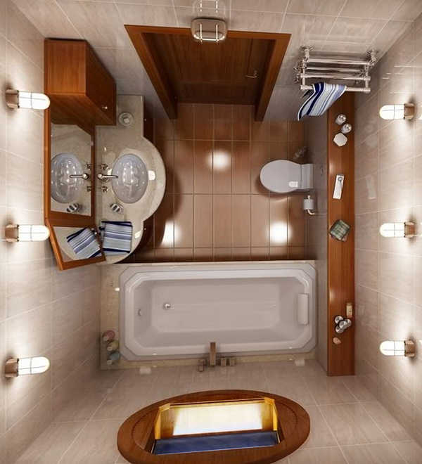 Плитка для маленькой ванной - 5