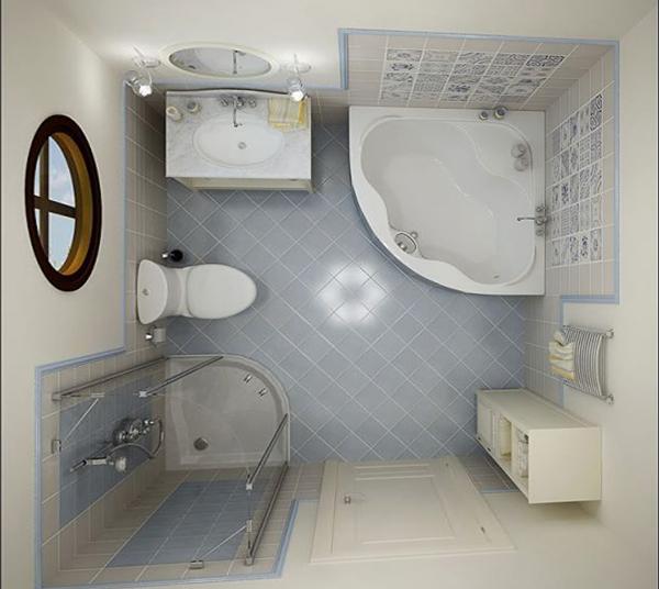 Отделка плиткой маленькой ванны - 2
