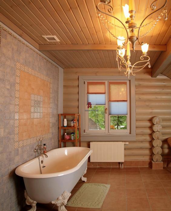 Плитка для ванной в частном доме - 2