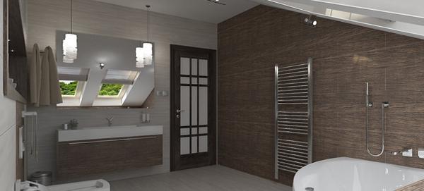 Плитка для ванной в частном доме - 3
