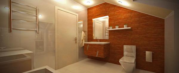 Плитка для ванной в частном доме - 4