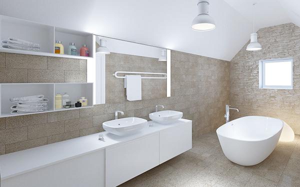 Плитка для ванной в частном доме - 7